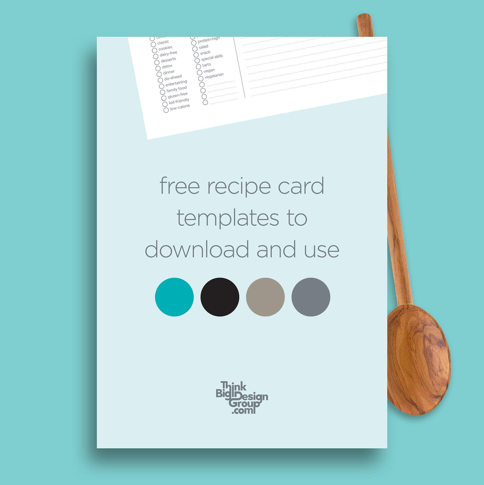 Free Recipe Card Templates Within Recipe Card Design Template