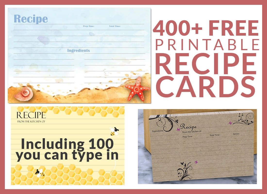 Free Recipe Cards – Cookbook People With Regard To 4X6 Photo Card Template Free