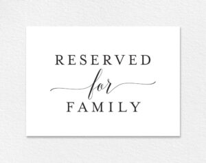 Free Reserved For Family Printable Card From | Colour throughout Reserved Cards For Tables Templates