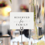 Free Reserved For Family Printable Card From | Dohl Ideas Pertaining To Reserved Cards For Tables Templates