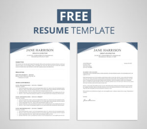 Free Resume Template In Word (7) | Budget Spreadsheet regarding How To Find A Resume Template On Word