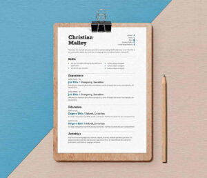 Free Resume Templates For Word: 15 Cv/resume Formats To Download with regard to How To Get A Resume Template On Word
