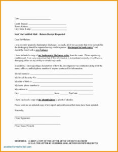 Free Sample Credit Repair Letters And Templates Of Credit with Credit Report Dispute Letter Template