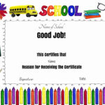 Free School Certificates & Awards With Free Printable Student Of The Month Certificate Templates