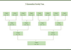 Free Seven Generation Family Tree | Blank Family Tree Charts intended for Blank Tree Diagram Template