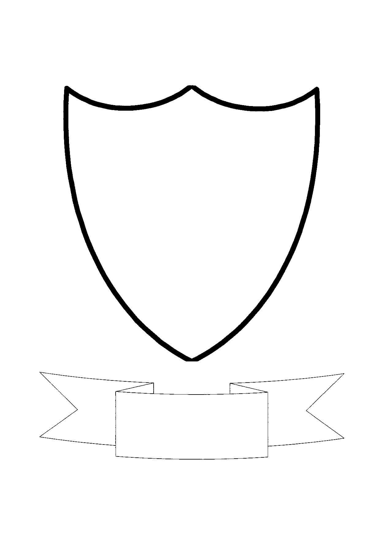 Free Shield Template, Download Free Clip Art, Free Clip Art In Blank Shield Template Printable
