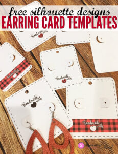 Free Silhouette Earring Card Templates (Set Of 8 Regarding Silhouette Cameo Card Templates