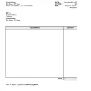Free Simple Invoice Template Excel With Uk Plus Invoices Throughout Simple Report Template Word