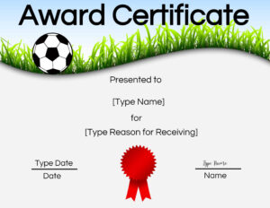 Free Soccer Certificate Maker | Edit Online And Print At Home in Soccer Award Certificate Template