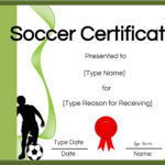 Free Soccer Certificate Maker   Edit Online And Print At Home With Soccer Certificate Template