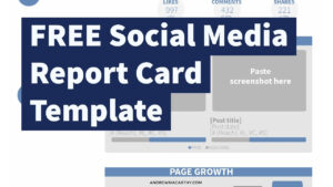 Free Social Media Report Card Template (Photoshop .psd) intended for Free Social Media Report Template