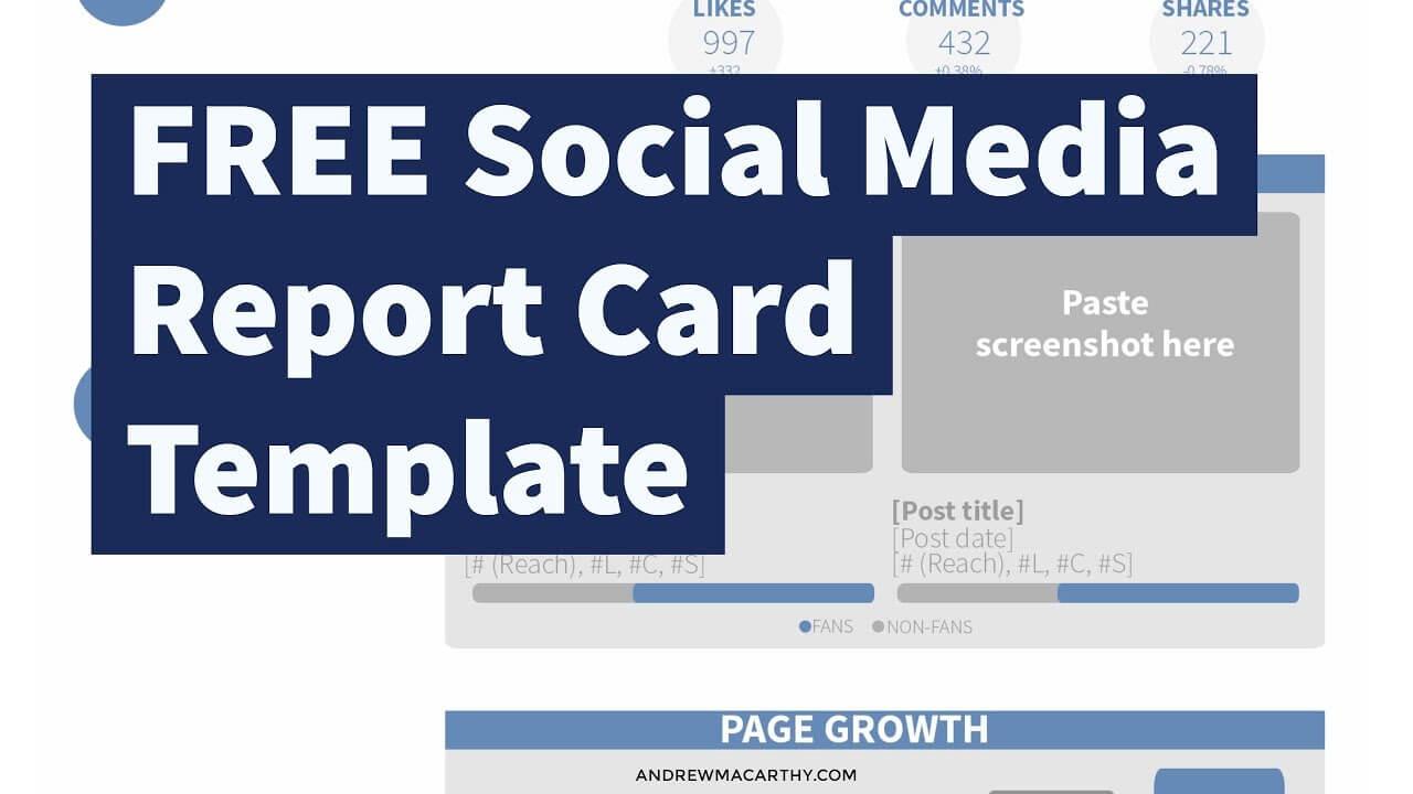Free Social Media Report Card Template (Photoshop .psd) Intended For Free Social Media Report Template