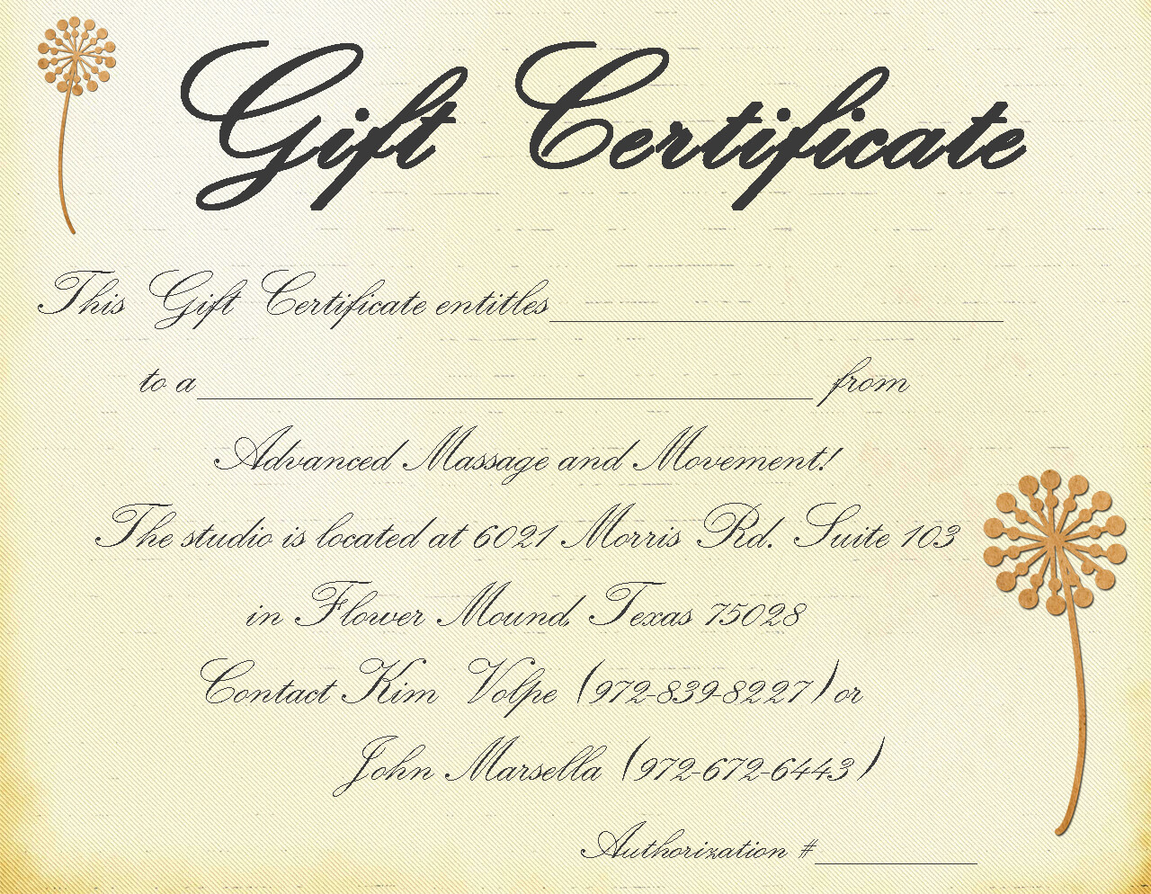 Free Spa Gift Certificate Template Printable Or Free Intended For Massage Gift Certificate Template Free Download
