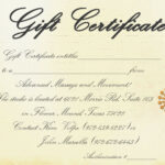 Free Spa Gift Certificate Template Printable Or Free with regard to Massage Gift Certificate Template Free Printable