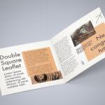 Free Square Bi Fold Brochure Mockup Psd File 2 | Bi Fold Inside 2 Fold Brochure Template Psd