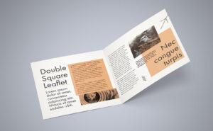 Free Square Bi Fold Brochure Mockup Psd File 2 | Bi Fold With 2 Fold Brochure Template Free