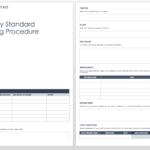 Free Standard Operating Procedure Template Word Ic Warehouse Inside Free Standard Operating Procedure Template Word 2010