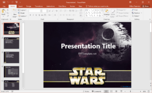 Free Star Wars Powerpoint Template within Powerpoint Templates War