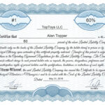 Free Stock Certificate Online Generator Inside Certificate Of Ownership Template