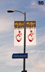 Free Street Pole Hanging Banner Mockup Template | Free Psd for Street Banner Template