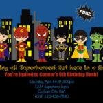 Free Superhero Birthday Invitations – Hizir.kaptanband.co With Regard To Superhero Birthday Card Template