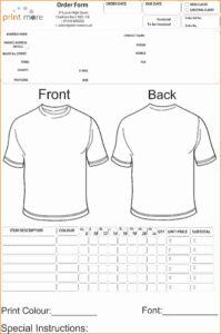 Free T Shirt Order Form Template Word | Azərbaycan Dillər with regard to Blank T Shirt Order Form Template