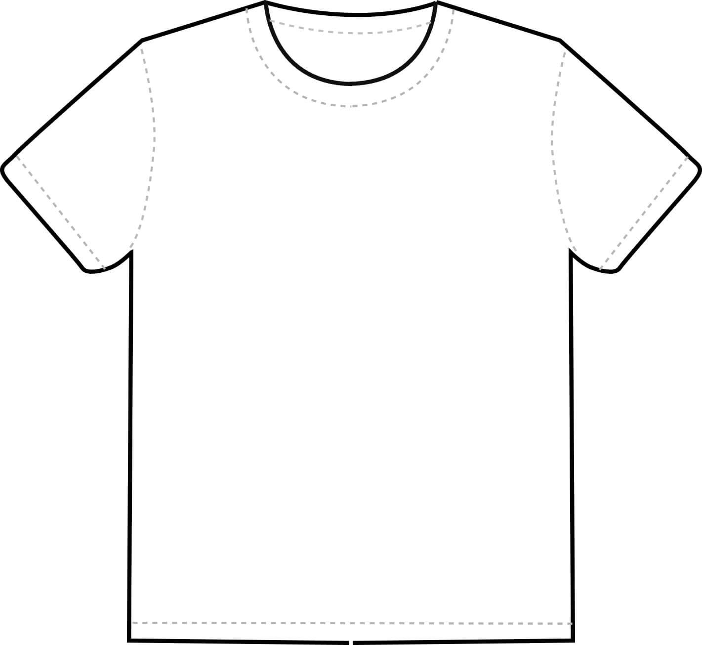 Free T Shirt Template Printable, Download Free Clip Art Inside Blank Tshirt Template Pdf
