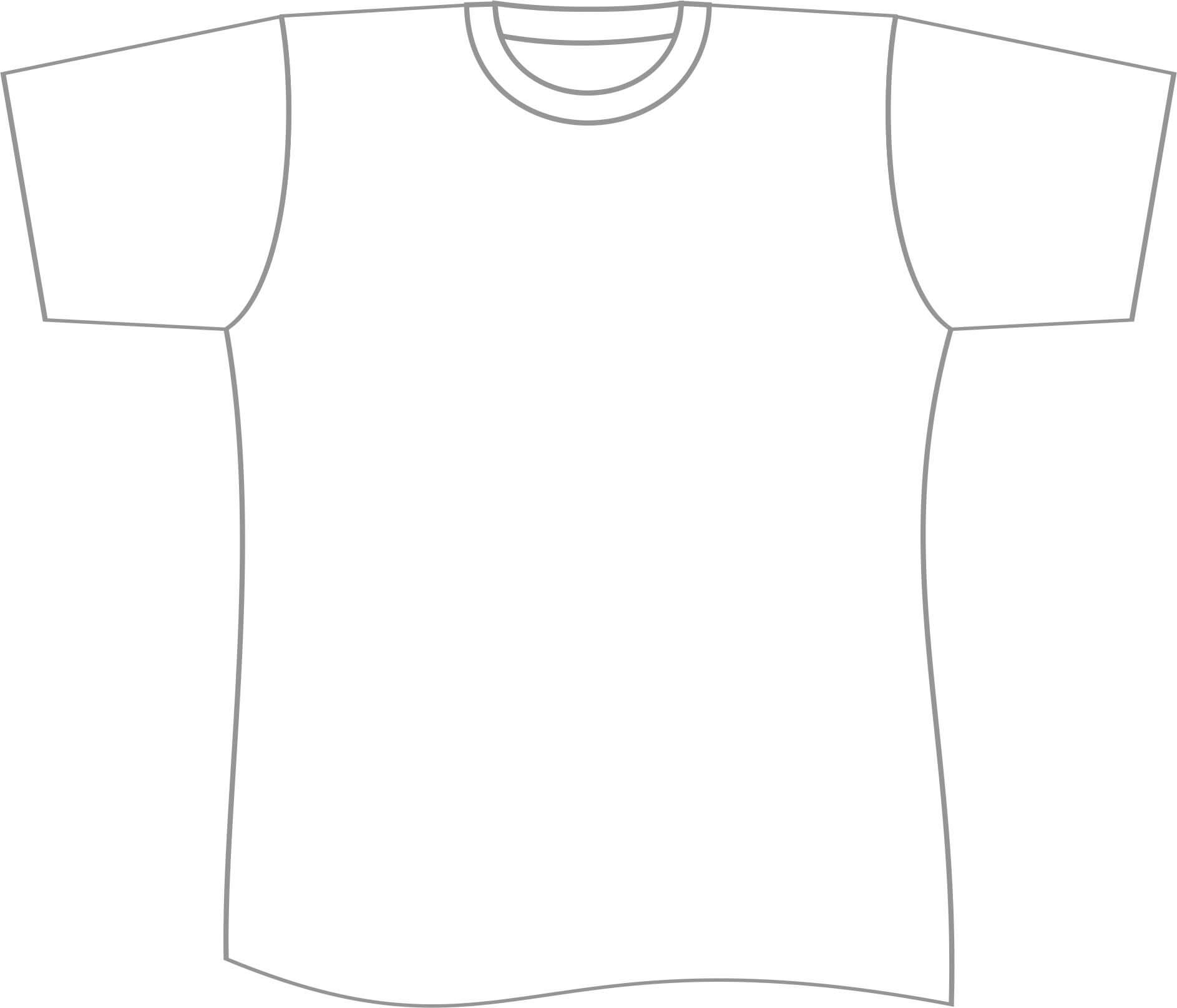 Free T Shirt Template Printable, Download Free Clip Art Pertaining To Blank Tshirt Template Pdf