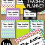 Free Teacher Planner – Playdough To Plato Inside Teacher Plan Book Template Word