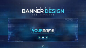 Free Tech Twitter Header Psd Template [Free To Use] – Lastzak18 within Twitter Banner Template Psd