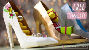 Free Template: How To Make Paper 3D High Heel Shoe Pertaining To High Heel Template For Cards