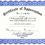 Free Templates For Certificates Of Appreciation | Misc in In Appreciation Certificate Templates