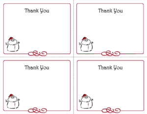 Free Thank You Cards Printable | Free Printable Holiday Gift inside Free Printable Thank You Card Template
