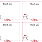 Free Thank You Cards Printable | Free Printable Holiday Gift with regard to Christmas Note Card Templates