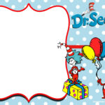 Free Thing 1 And Thing 2 Dr. Seuss Invitation   Free In Dr Seuss Birthday Card Template