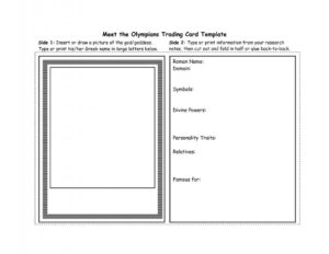 Free Trading Card Template | Template Business Throughout Playing Card Template Word