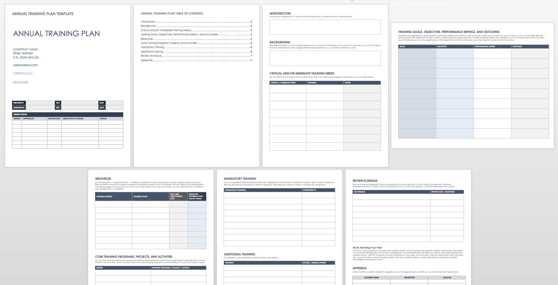 Free Training Plan Templates For Business Use | Smartsheet Regarding Training Documentation Template Word