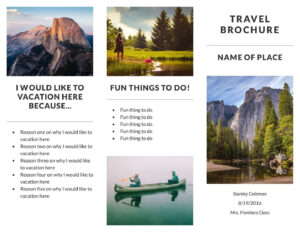 Free Travel Brochure Templates & Examples [8 Free Templates] Pertaining To Travel Guide Brochure Template