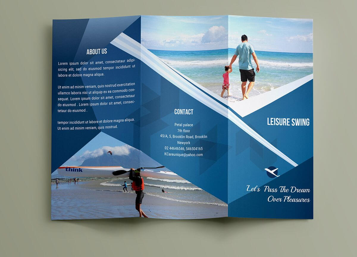 Free Travelling Trifold Brochure Template On Behance Within Travel And Tourism Brochure Templates Free