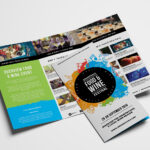 Free Tri Fold Brochure Template For Events & Festivals – Psd Regarding 3 Fold Brochure Template Free
