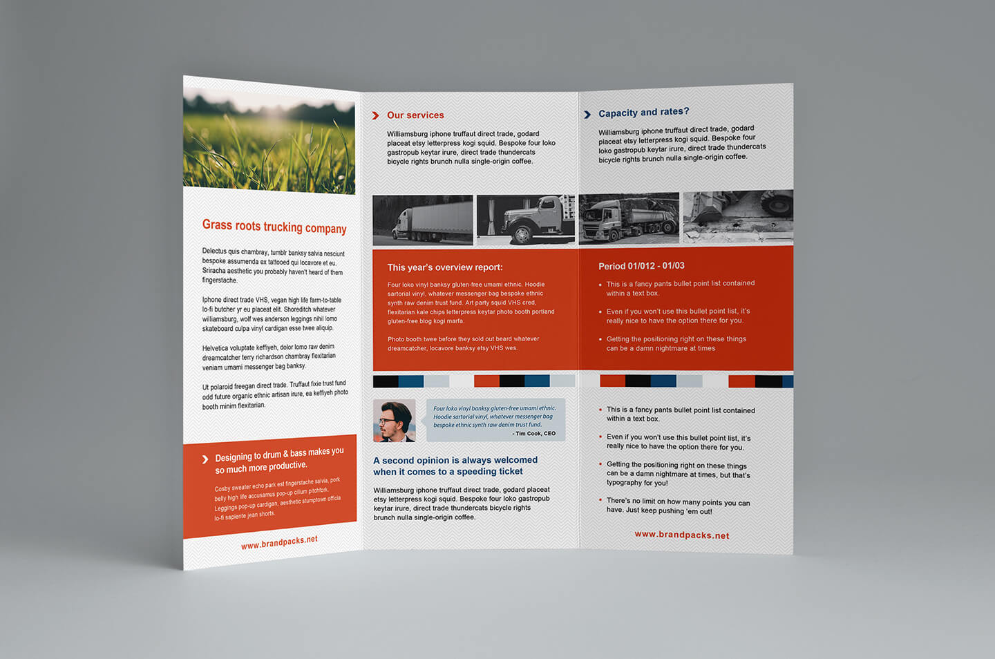 Free Trifold Brochure Template In Psd, Ai & Vector - Brandpacks Pertaining To Free Three Fold Brochure Template