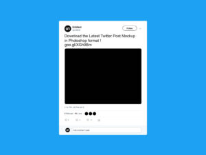 Free Twitter Post Mockup (2019) within Blank Twitter Profile Template