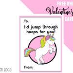Free Unicorn Valentine's Day Cards Printable For Kids Regarding Valentine Card Template For Kids