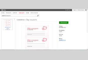 Free Valentine's Day Templates For Ms Office With Regard To Valentine Card Template Word
