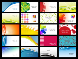 Free Vector Variety Of Dynamic Flow Line Of Business Card for Calling Card Free Template