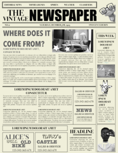 Free Vintage Newspaper Template Word 15 Signs You're In with Old Newspaper Template Word Free