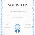 Free Volunteer Appreciation Certificates — Signup For Volunteer Certificate Template