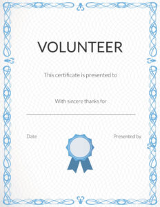 Free Volunteer Appreciation Certificates — Signup inside Walking Certificate Templates
