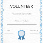 Free Volunteer Appreciation Certificates — Signup with Volunteer Award Certificate Template