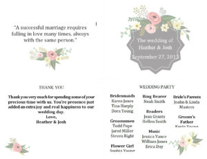 Free Wedding Program Templates You Can Customize in Free Printable Wedding Program Templates Word